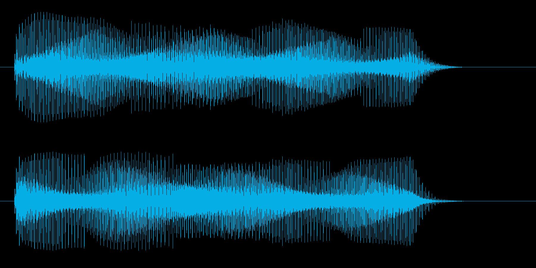 魔法攻撃_重力波の再生済みの波形