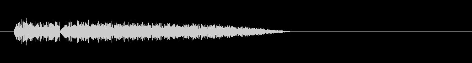 8bitの水音 ザパーンの未再生の波形