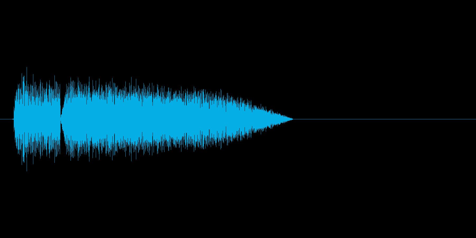 8bitの水音 ザパーンの再生済みの波形
