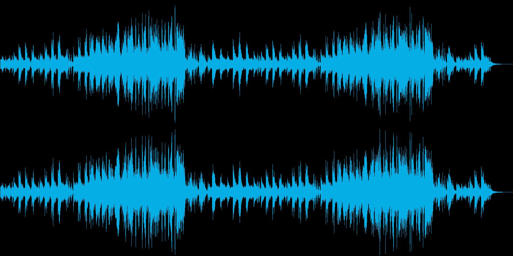 感動的なイージーリスニングピアノソロの再生済みの波形