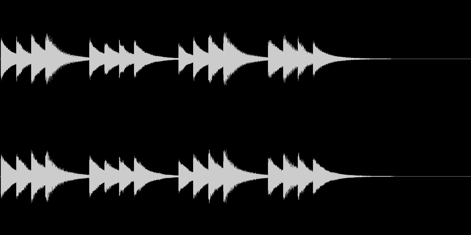 始業・終業 学校のチャイム01の未再生の波形