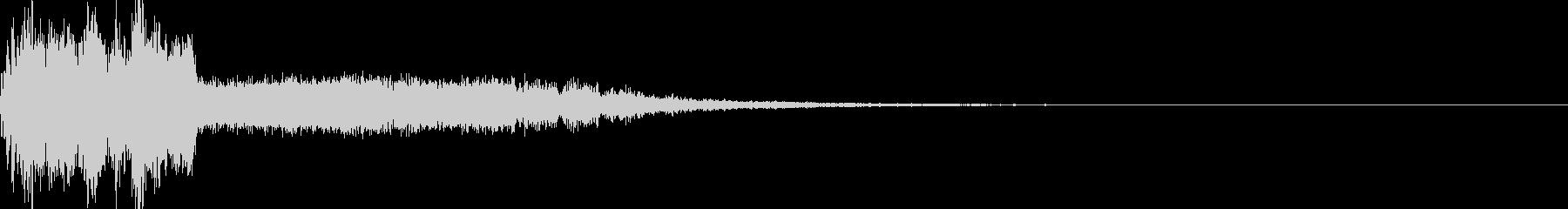 斬撃のクリティカルヒット音の未再生の波形
