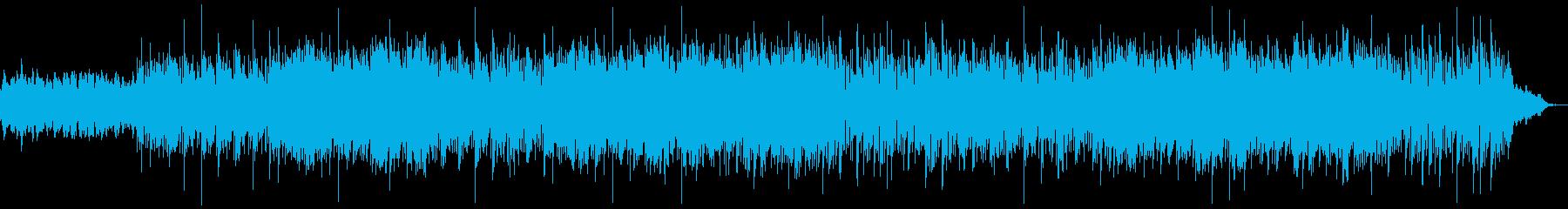 のんびりでふわふわした雰囲気のBGMの再生済みの波形