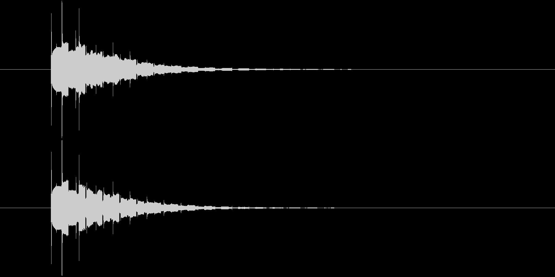ピコーン(高音)の未再生の波形