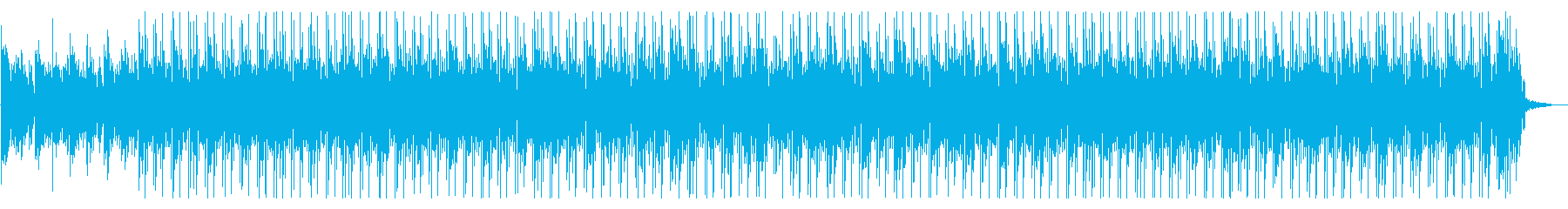 サイバー・電子的で落ち着いた雰囲気の曲の再生済みの波形