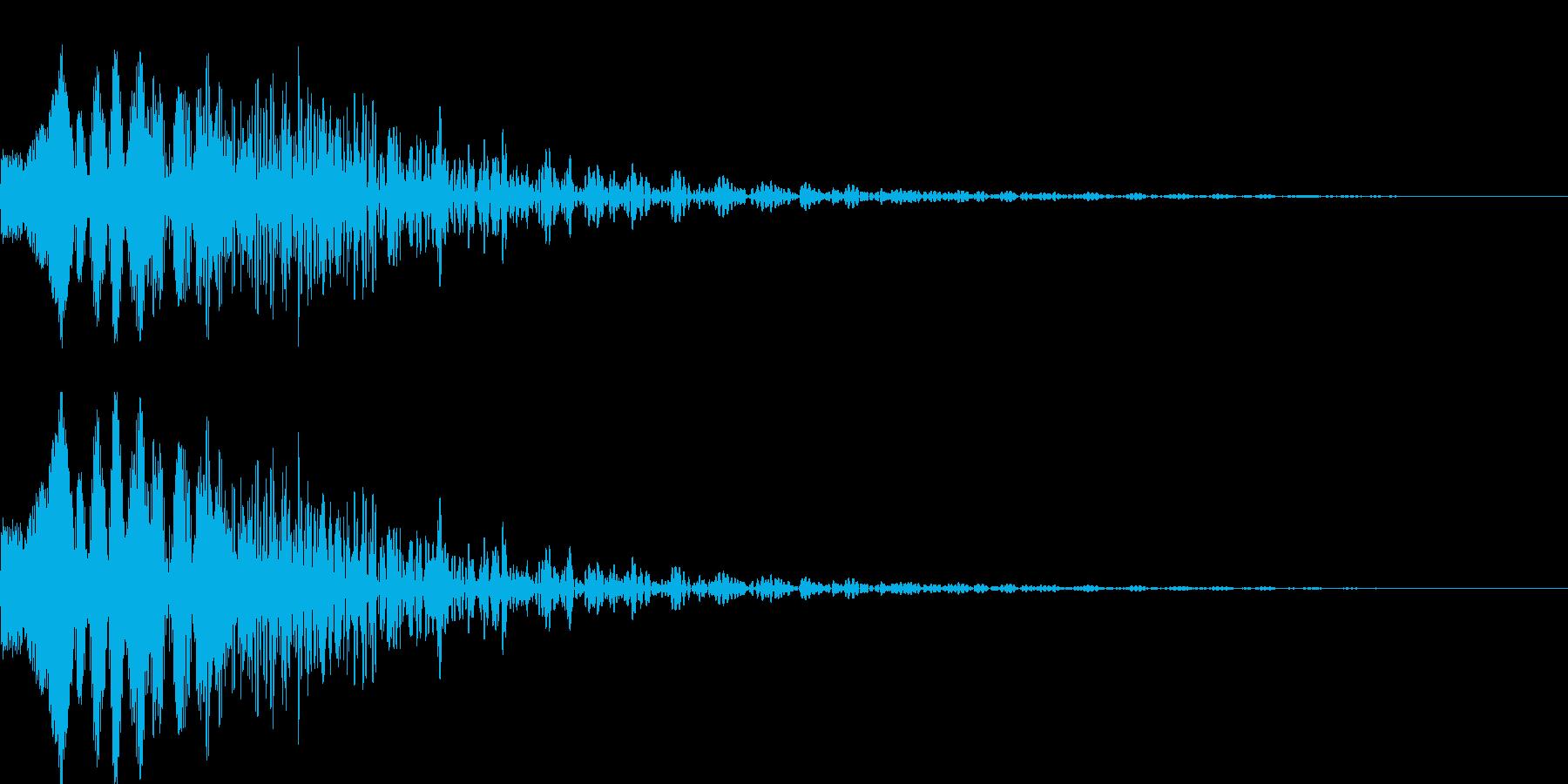 キャンセルする時などの効果音の再生済みの波形