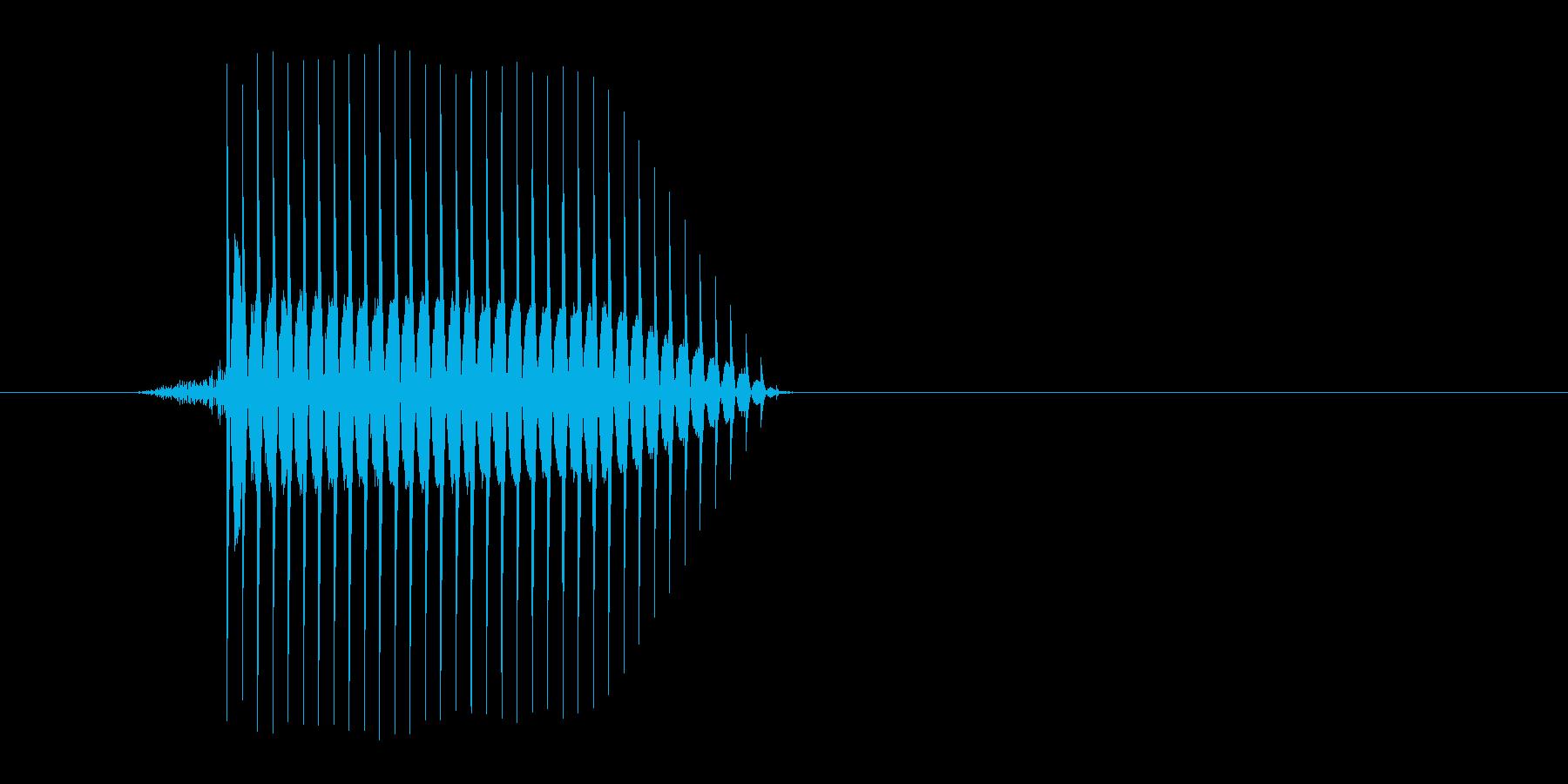 ゲーム(ファミコン風)セレクト音_030の再生済みの波形
