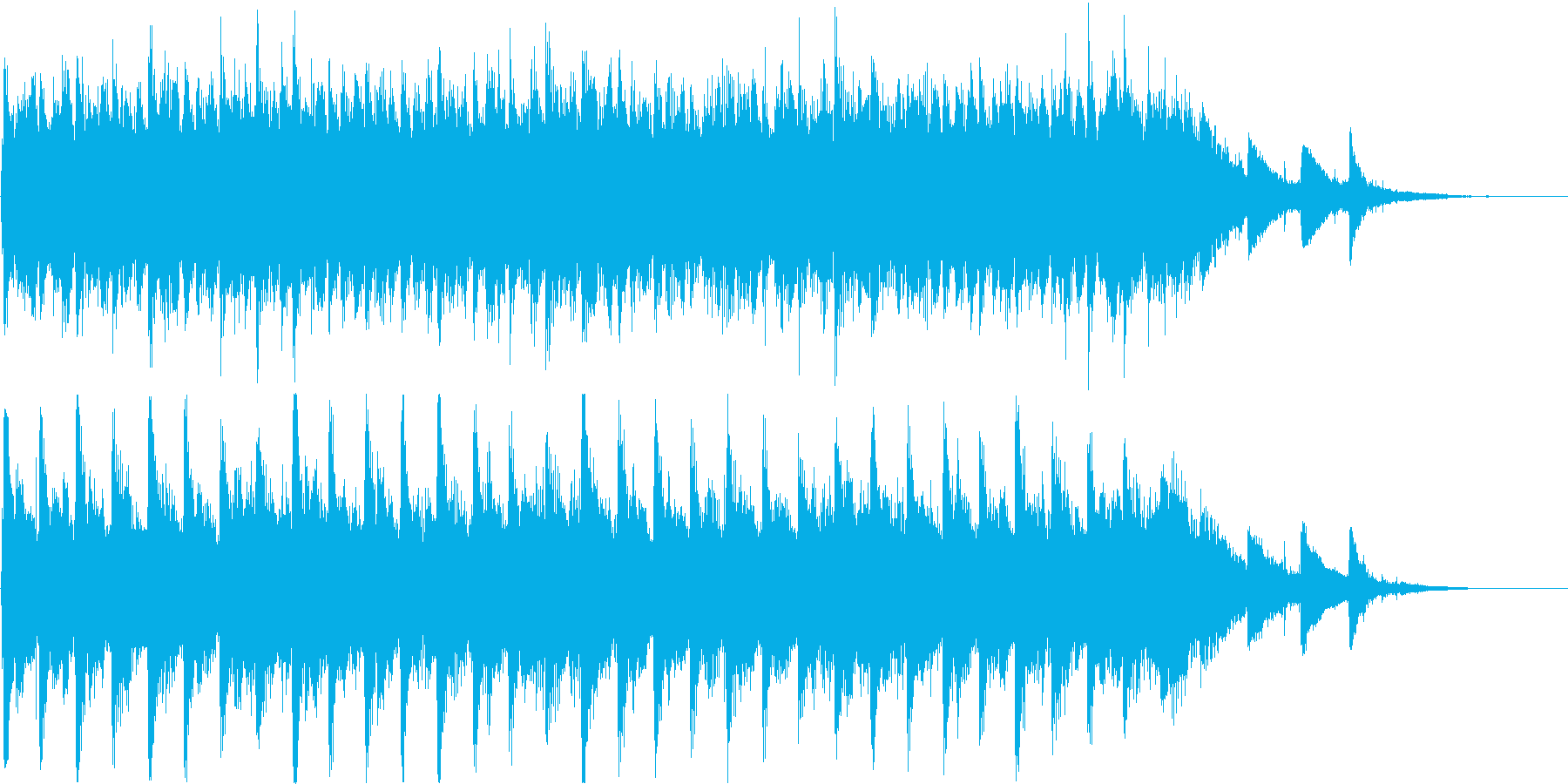【ピアノ】ピアノアンビエント系のジング…の再生済みの波形