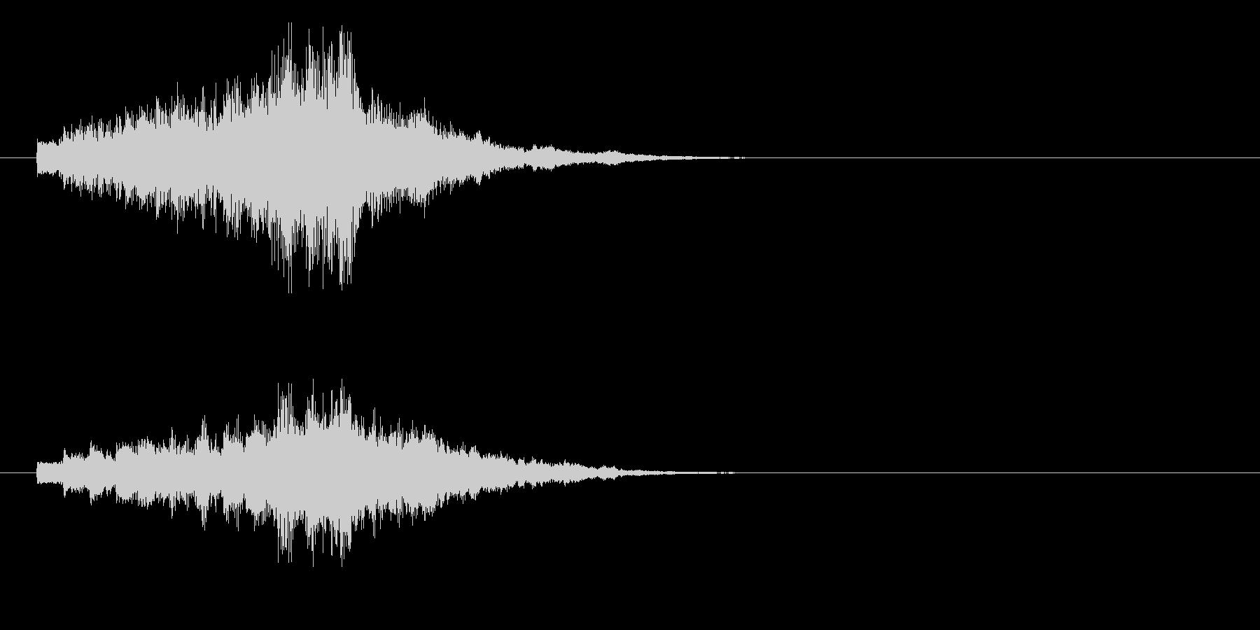 ジングル(ドキッとした場面転換)の未再生の波形
