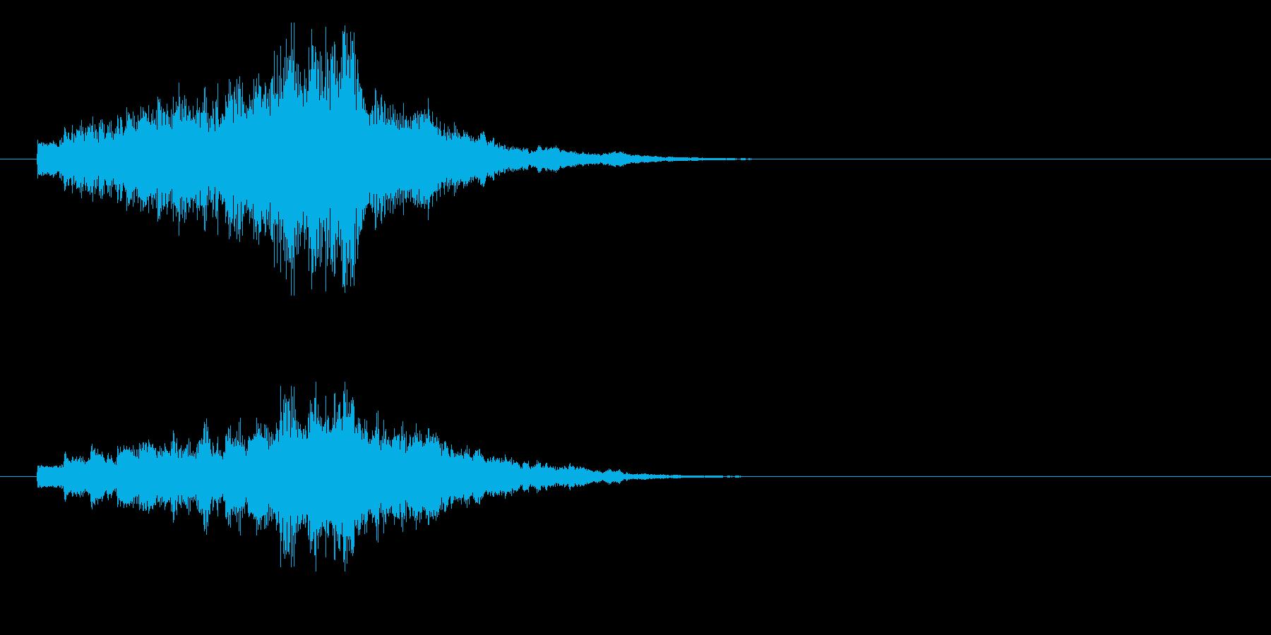 ジングル(ドキッとした場面転換)の再生済みの波形