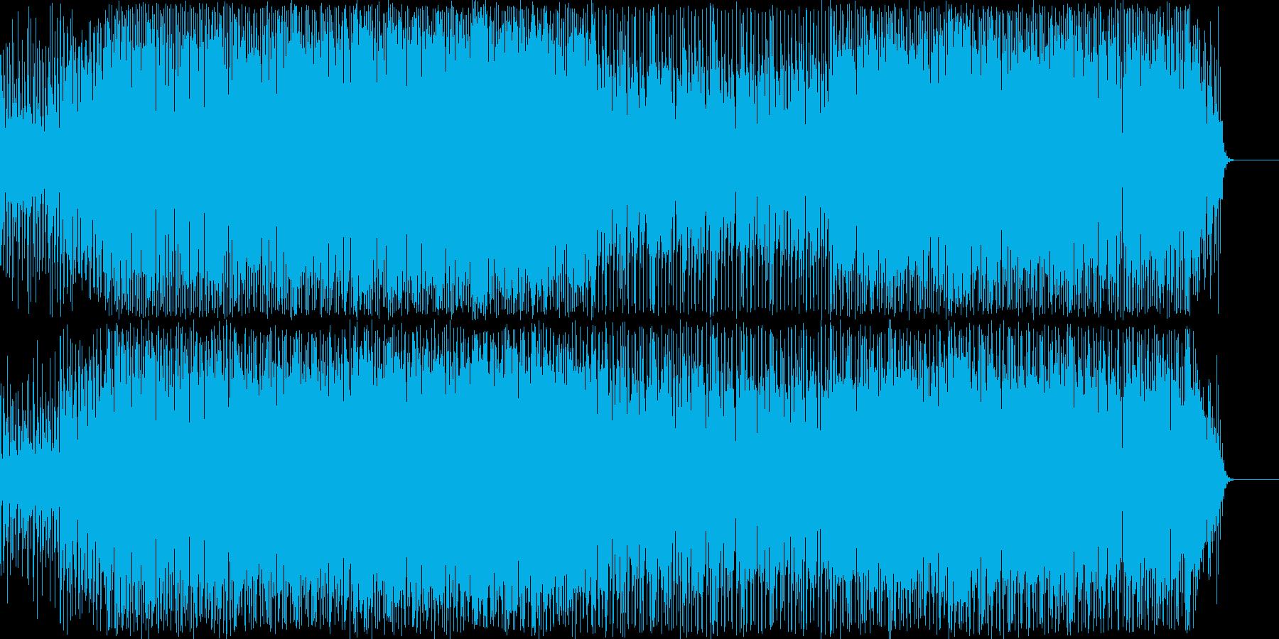 迫力のあるキックが印象的なテクノの再生済みの波形