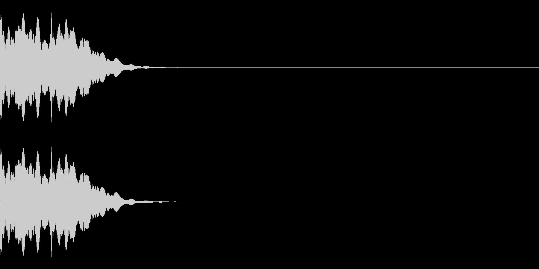 システム系アラーム音の未再生の波形