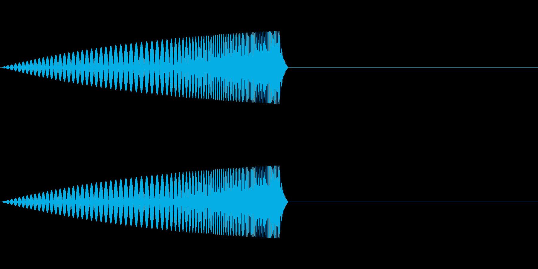 クリック、ボタン、ファンシーな足音1の再生済みの波形
