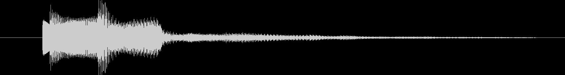 クリア、正解、OK、キラキラ、爽快の未再生の波形