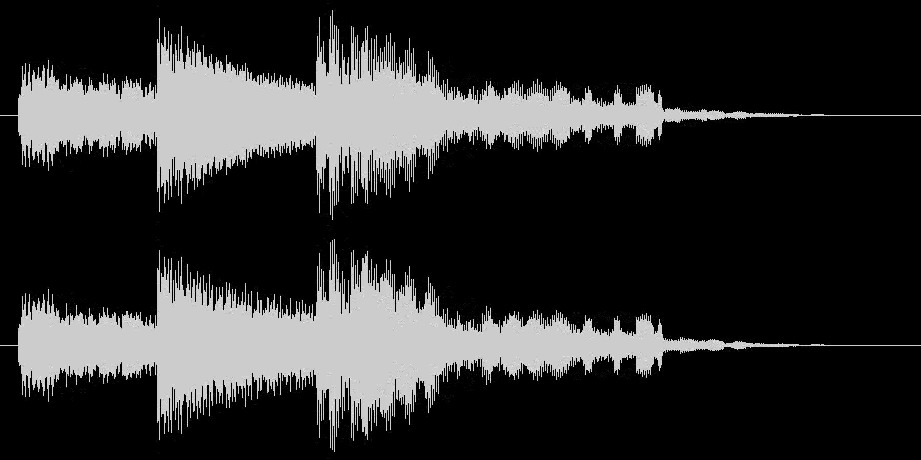 【ジングル】エレピによるラウンジ調の曲の未再生の波形