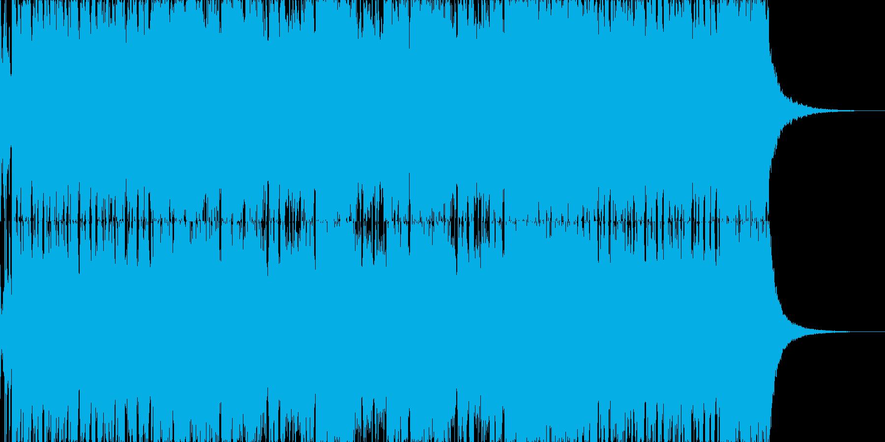【ロックブルース】コミカルロックブルースの再生済みの波形