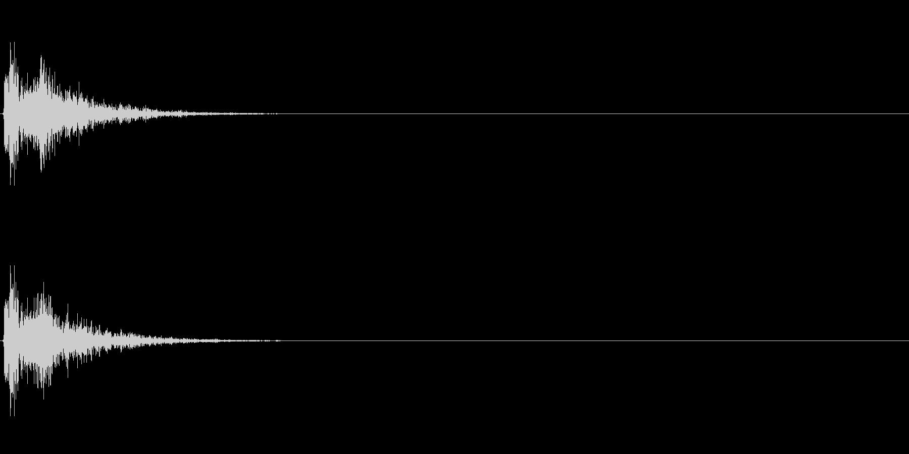 ビシャーン(檻の扉が閉まる音)の未再生の波形