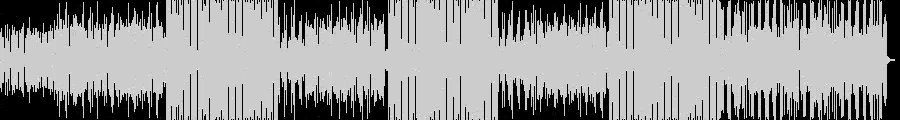 シンプルなエレクトロサウンドの未再生の波形