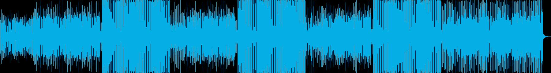 シンプルなエレクトロサウンドの再生済みの波形
