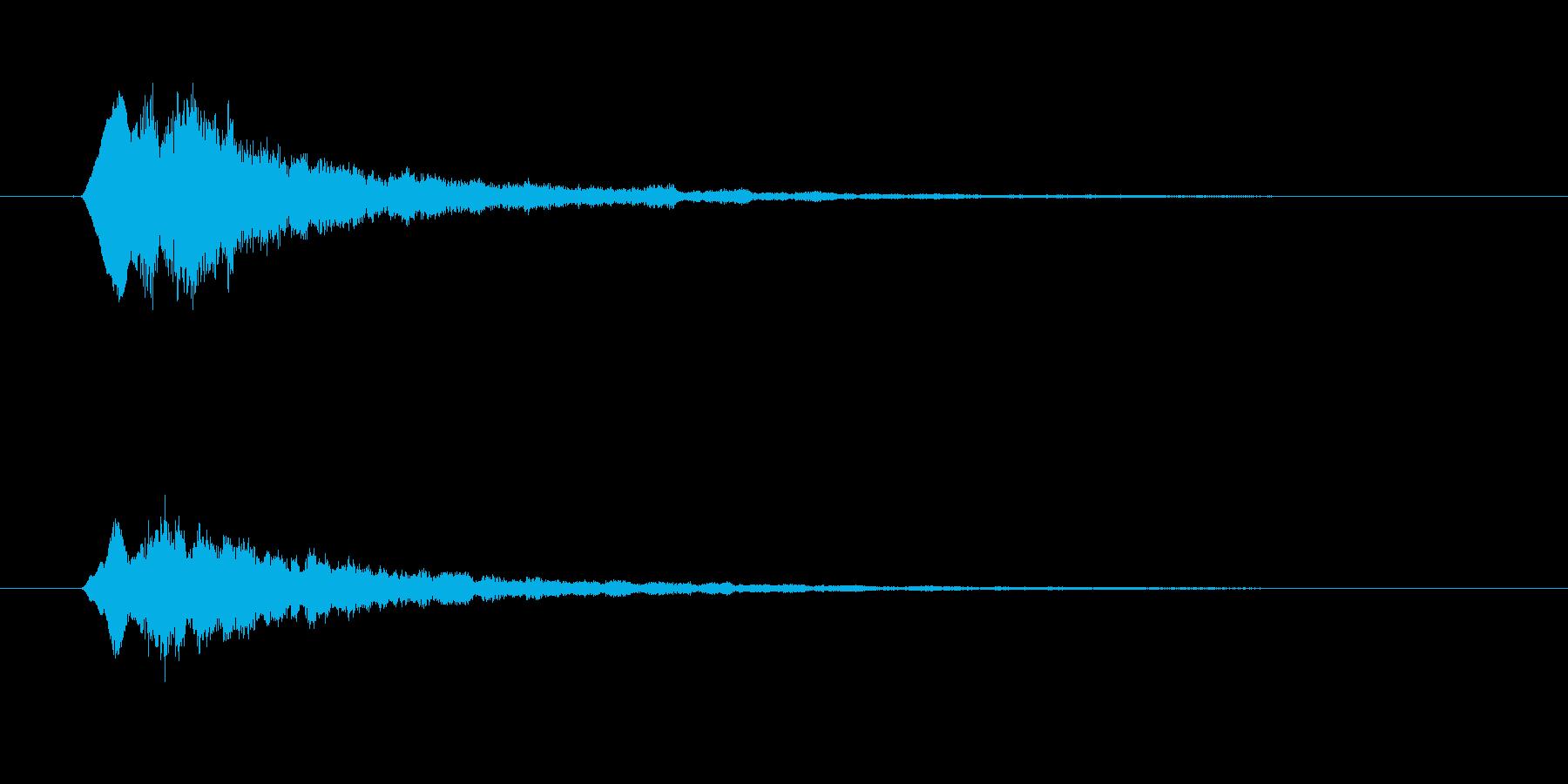 タラランラン(起動、終了音)の再生済みの波形