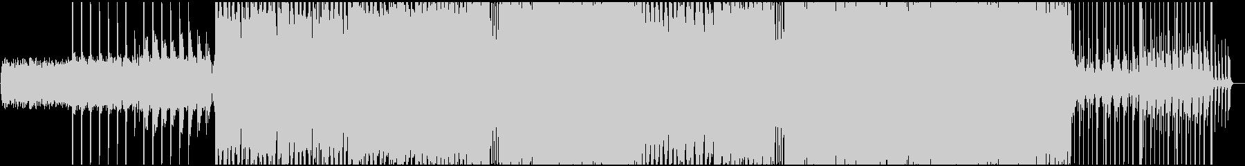 サビの盛り上がり方が印象的なEDMの未再生の波形
