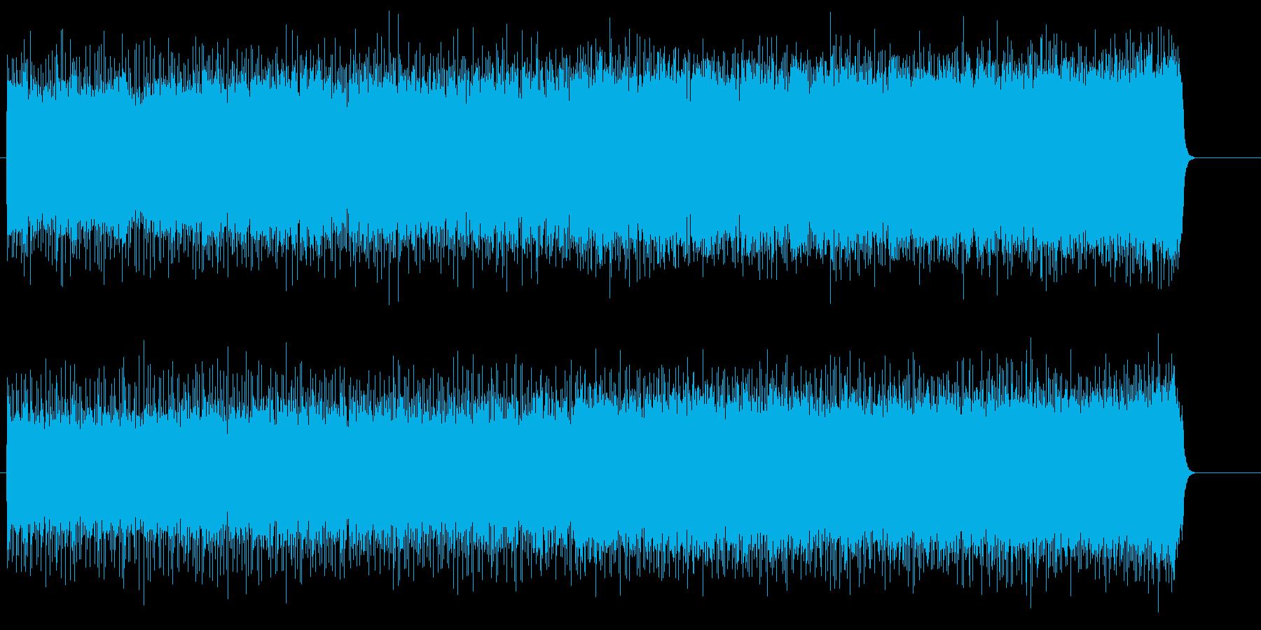 緊張の劇的なハード・ロック/テーマの再生済みの波形