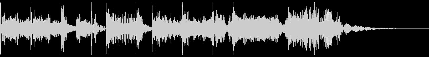 ロック調の短いジングルの未再生の波形