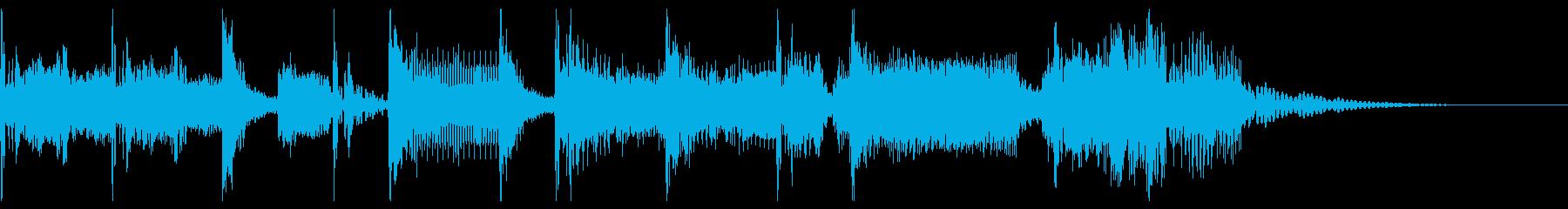 ロック調の短いジングルの再生済みの波形