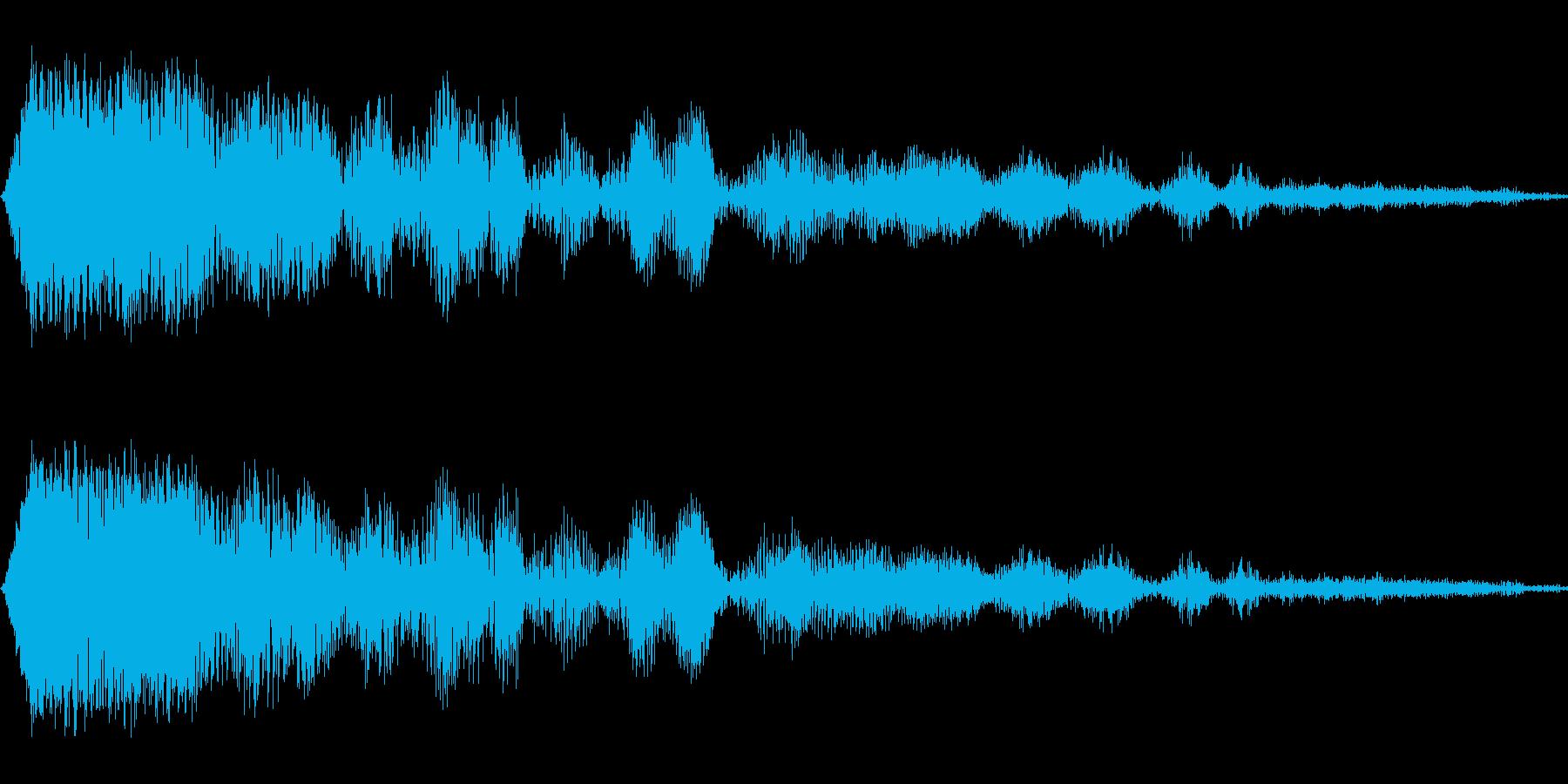 上昇、コマンド SEの再生済みの波形