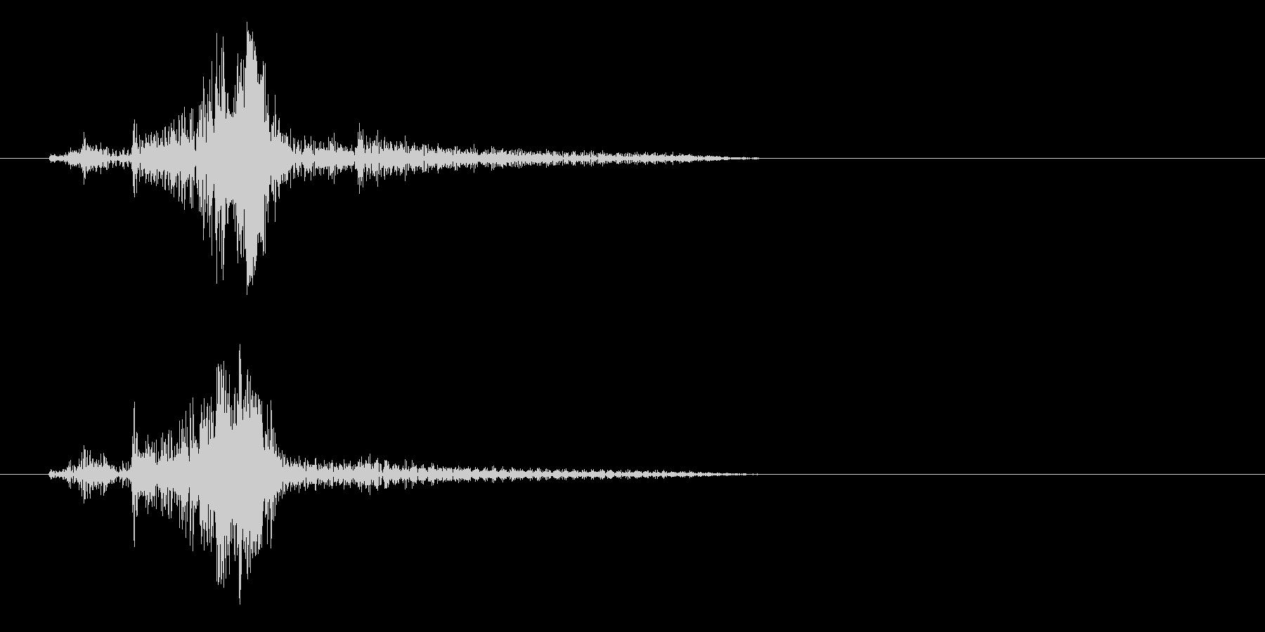 ライターこする音(金属)の未再生の波形