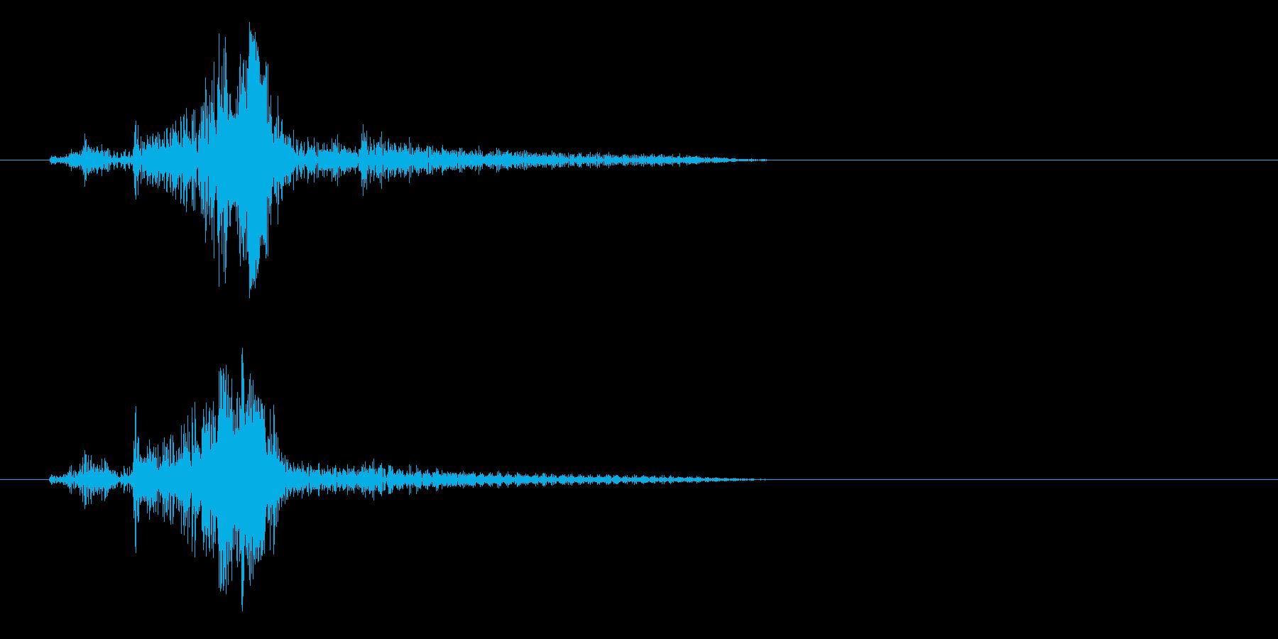 ライターこする音(金属)の再生済みの波形