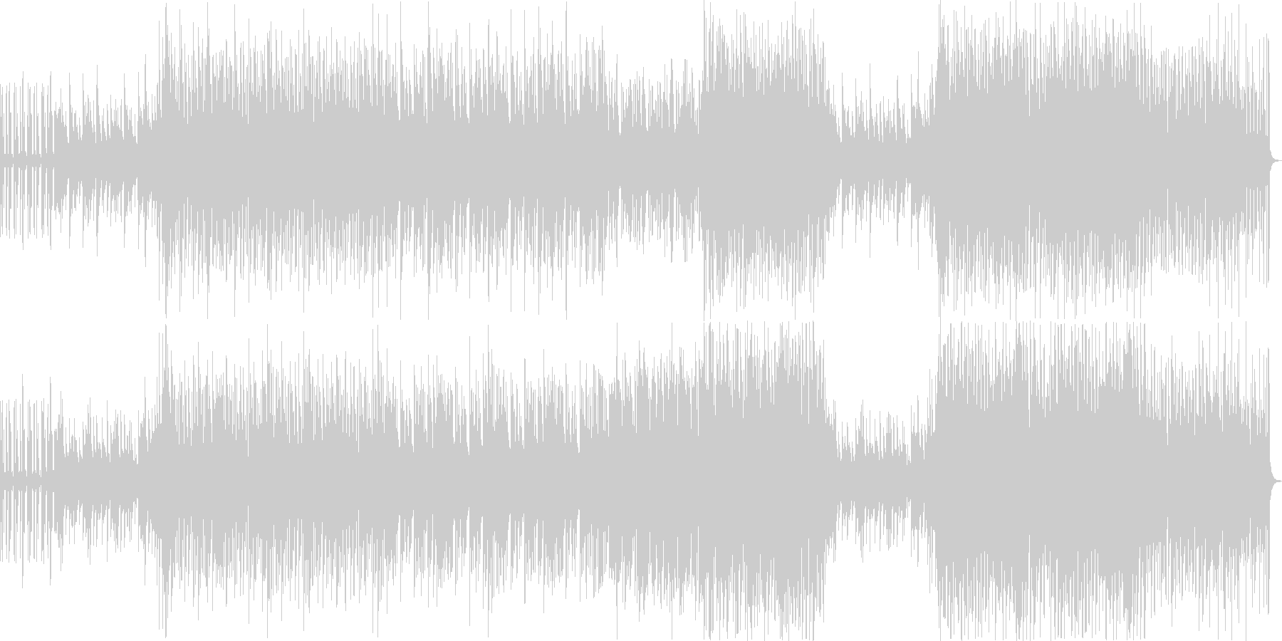 ふわっとしたせつないピアノブレイクビーツの未再生の波形