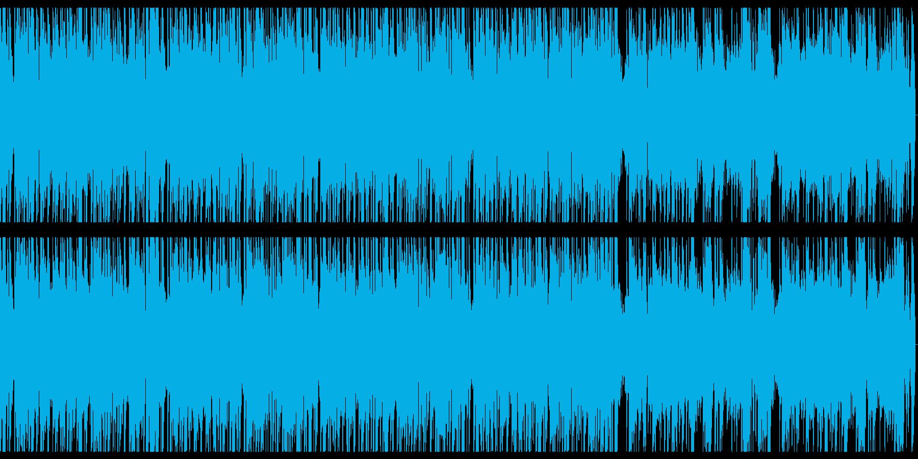 ジャズ系hip hopループの再生済みの波形