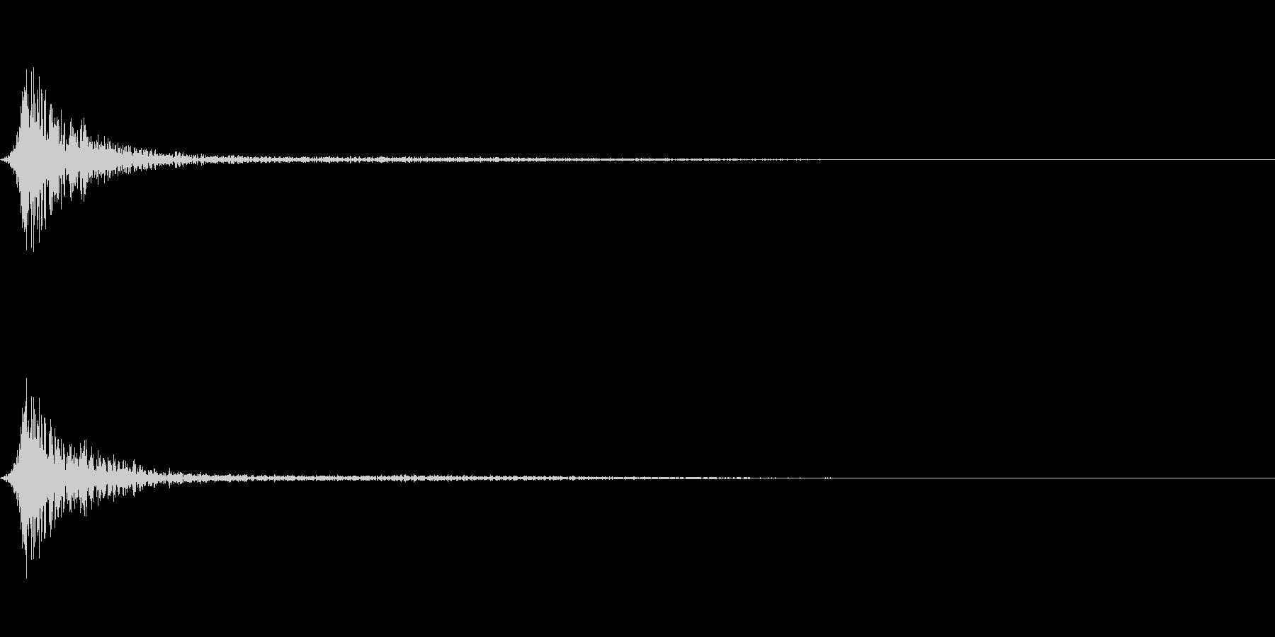 クリックノイズ系キャンセル音 シュンの未再生の波形