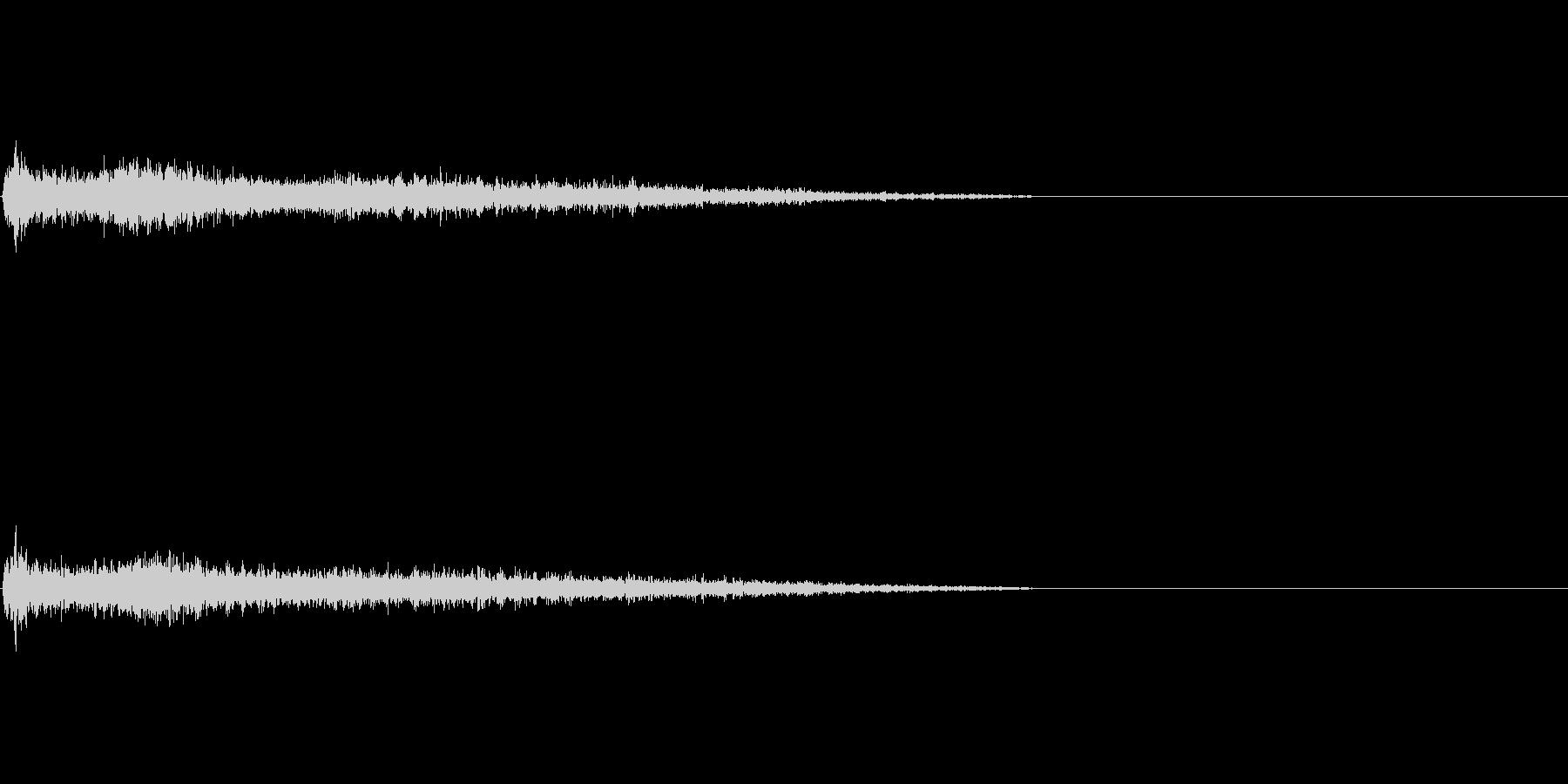 C♯マイナー インパクト音 衝撃音の未再生の波形