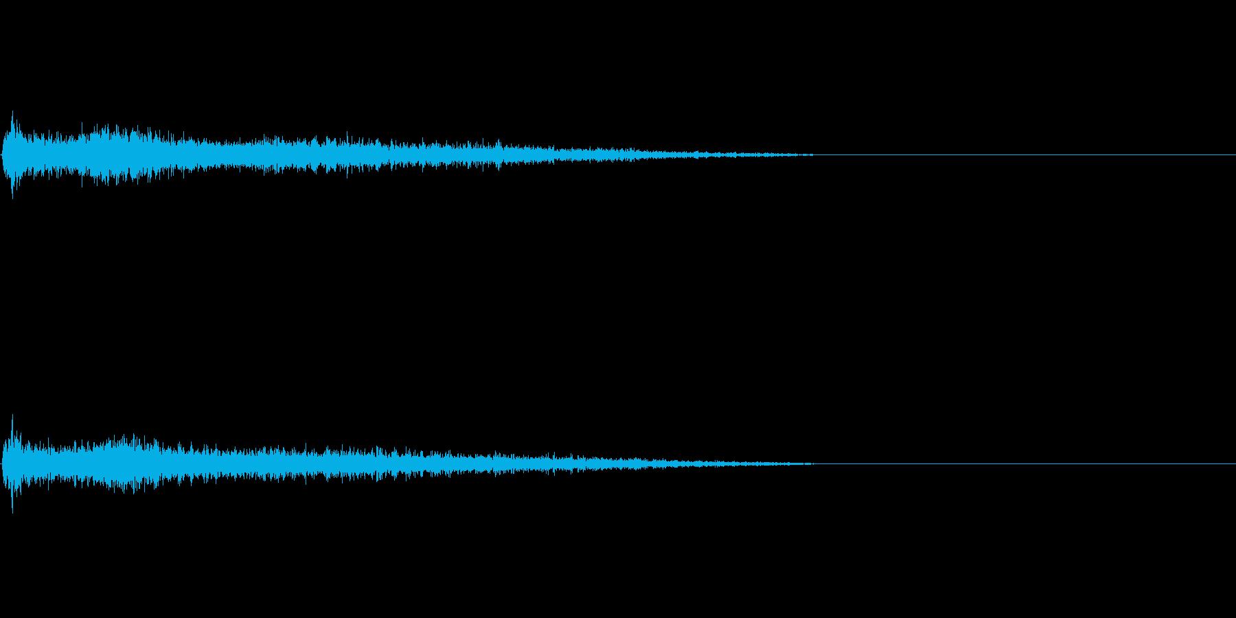 C♯マイナー インパクト音 衝撃音の再生済みの波形