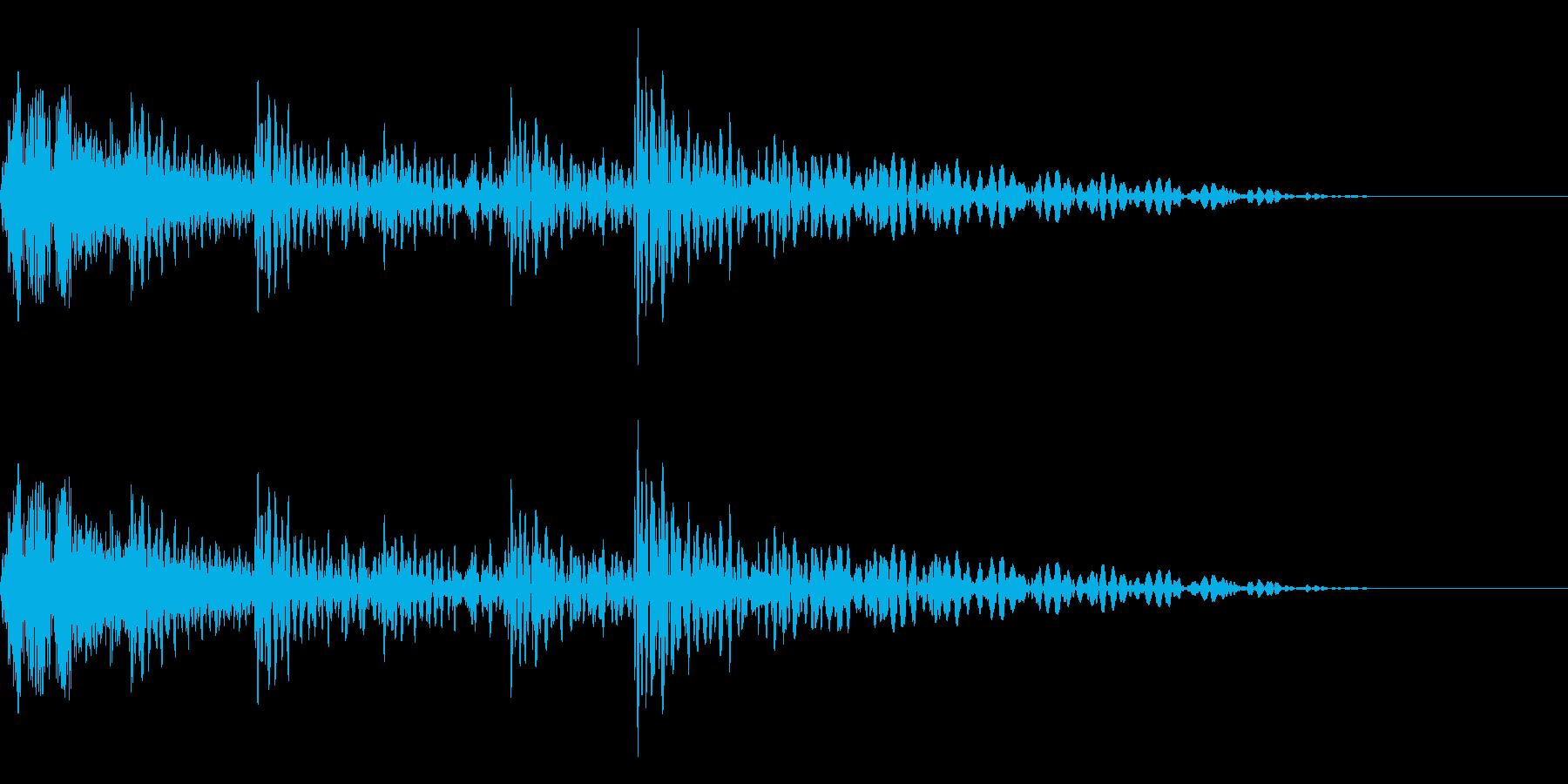スネアとタム回しのドラムフレーズです。の再生済みの波形