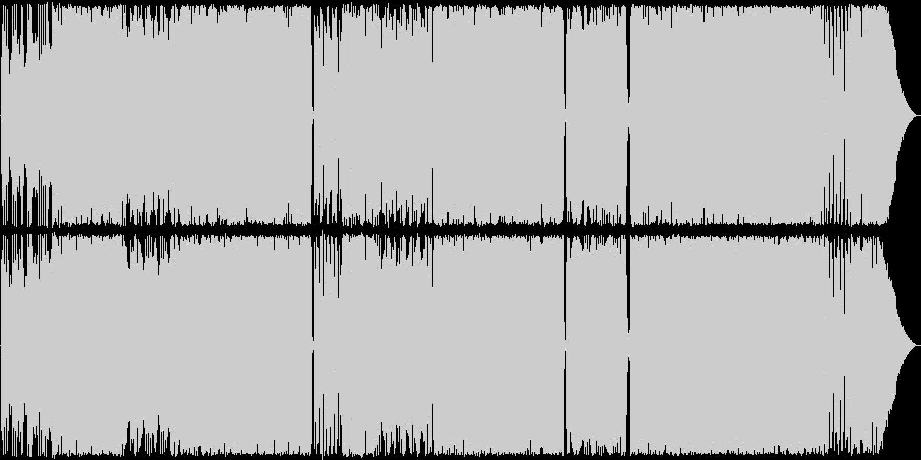 ベースとギターが印象的なROCK 生演奏の未再生の波形