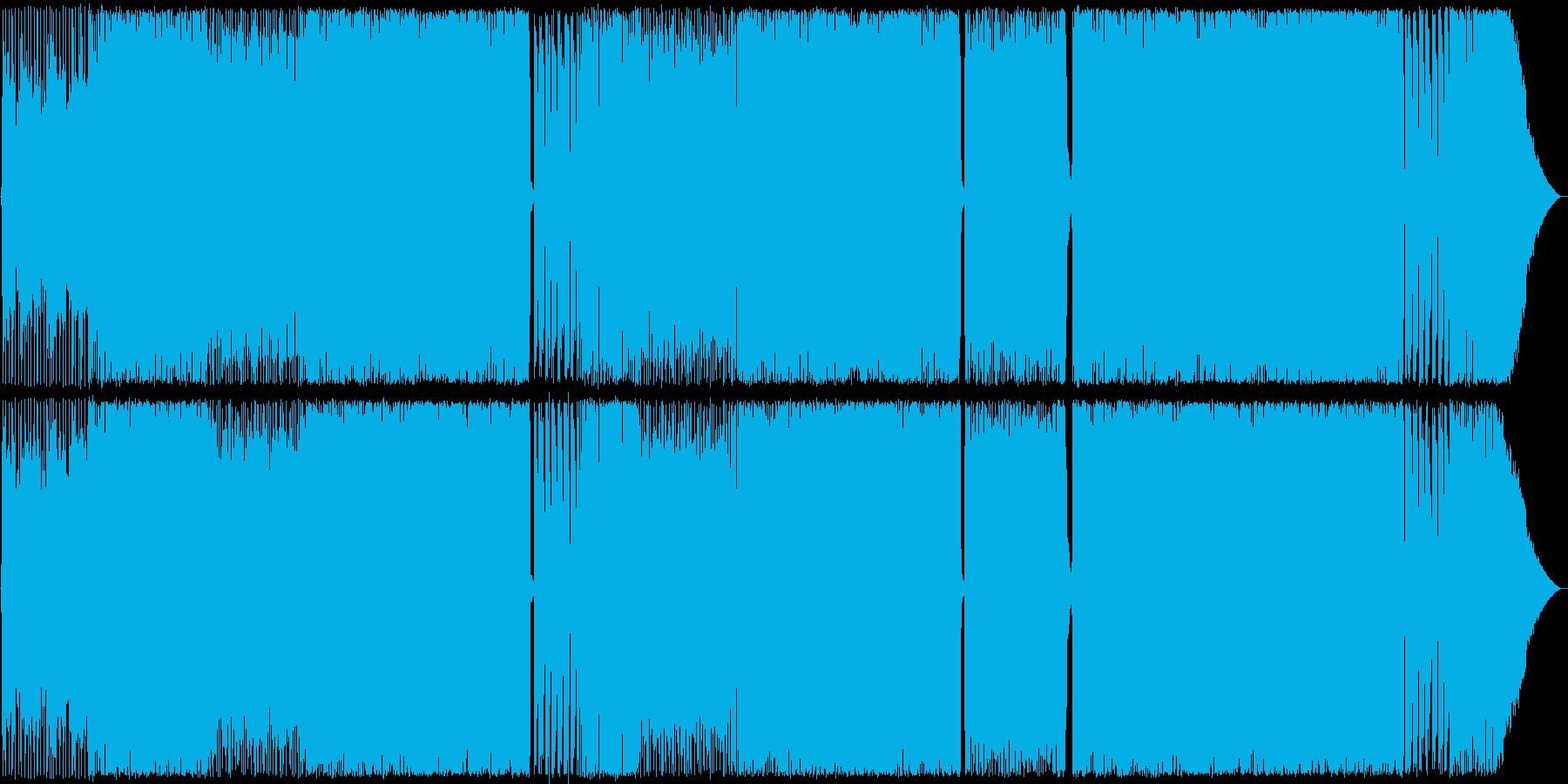 ベースとギターが印象的なROCK 生演奏の再生済みの波形
