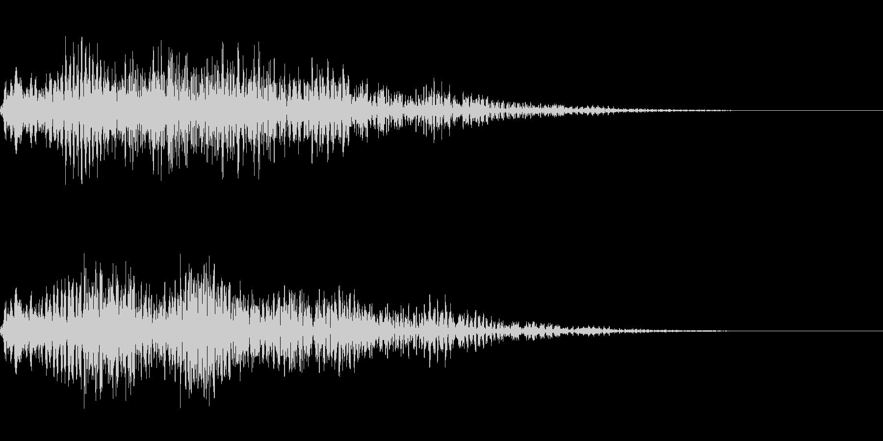 ゴージャスなキャンセル音3の未再生の波形
