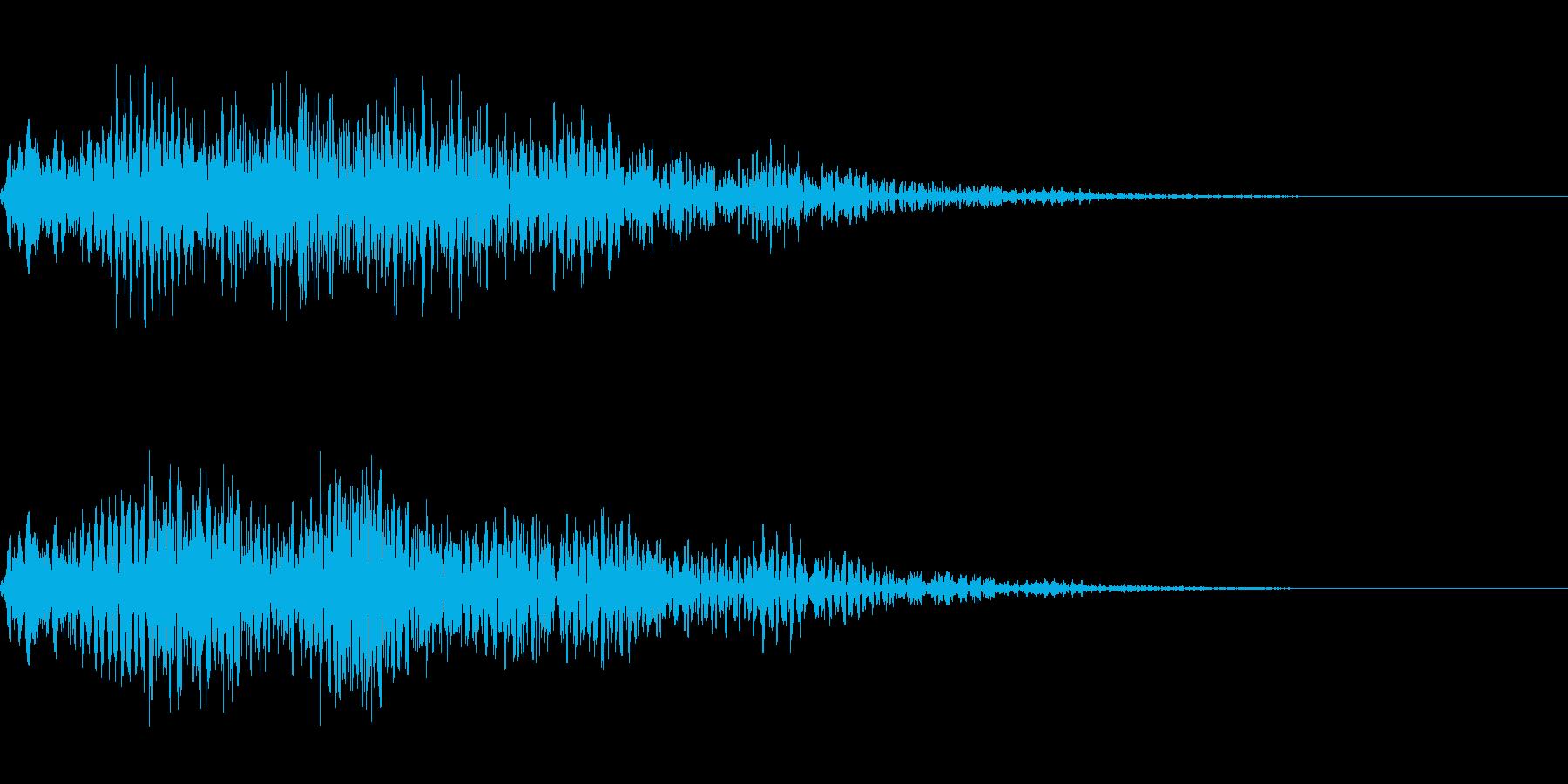 ゴージャスなキャンセル音3の再生済みの波形