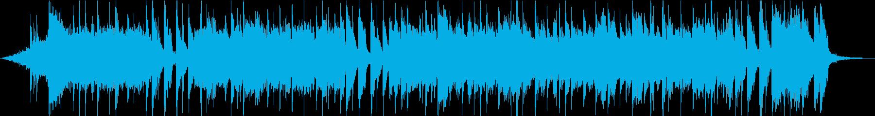 30秒のライトポップなピアノストリングスの再生済みの波形