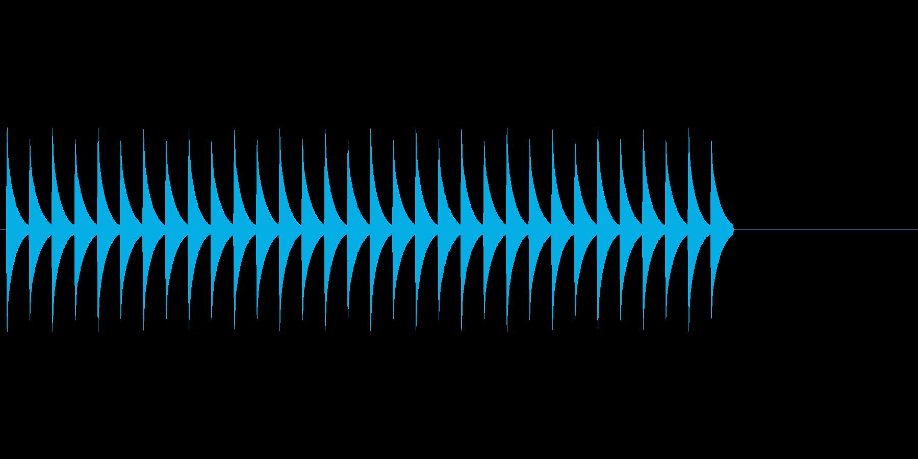 慌てたような効果音(コミカル、ギャグ)の再生済みの波形