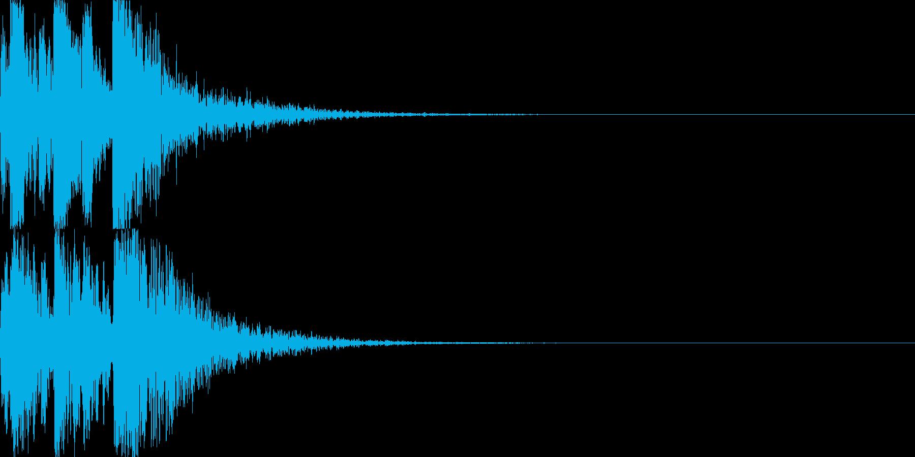 鼓(つづみ)太鼓のフレーズ ジングル3sの再生済みの波形