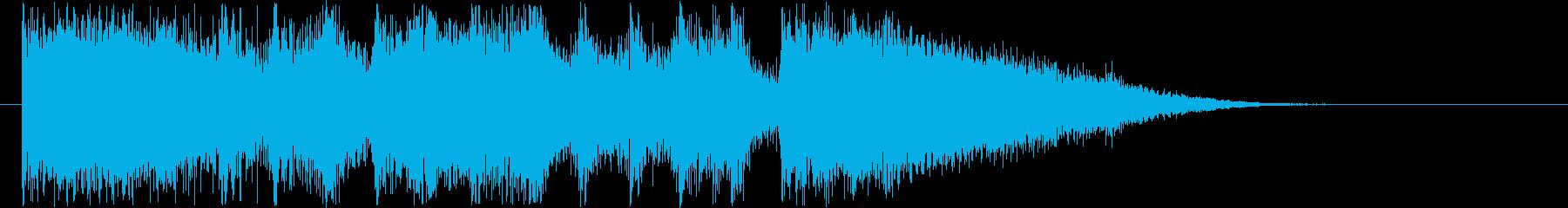 リズム感がありギターによるハードロックの再生済みの波形