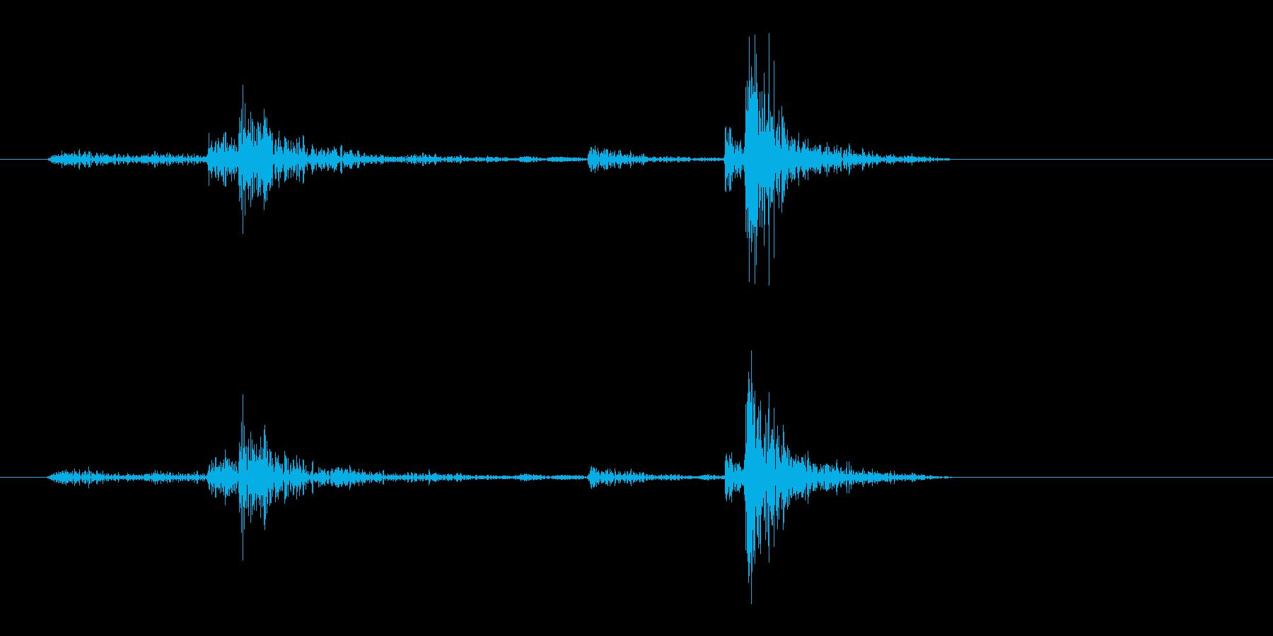 カチャッ(鍵を閉めるような効果音)の再生済みの波形