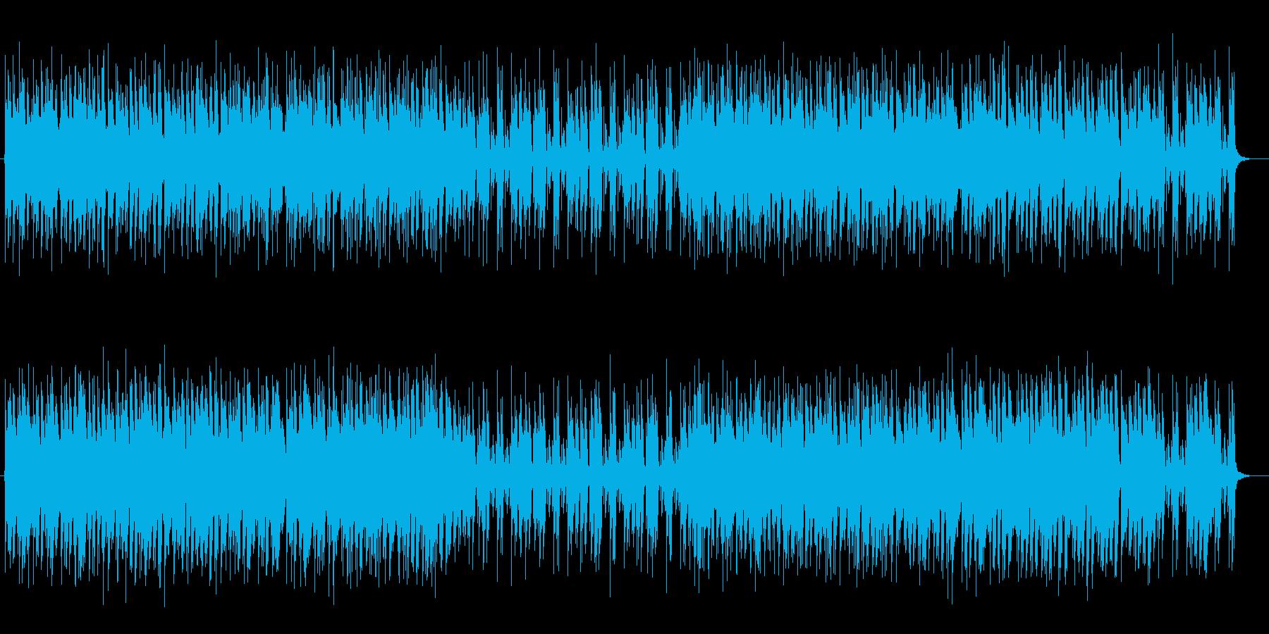 リズミカルで軽やかなミュージックの再生済みの波形