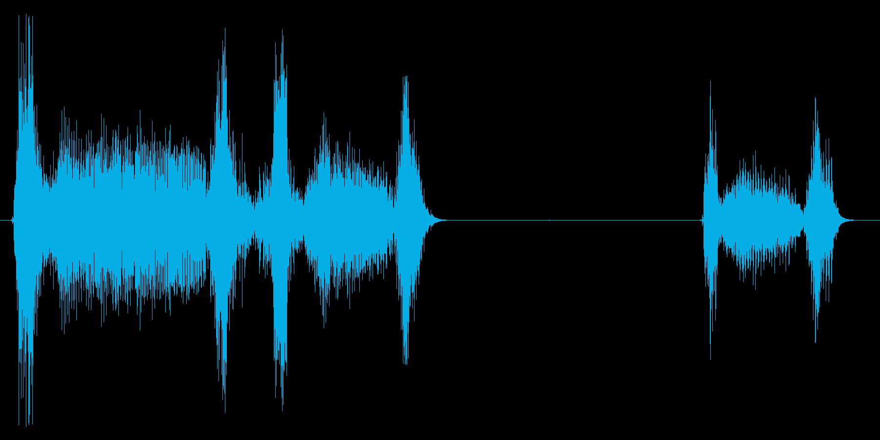 風邪の時の咳3 ゴホッゴホッゴホッの再生済みの波形