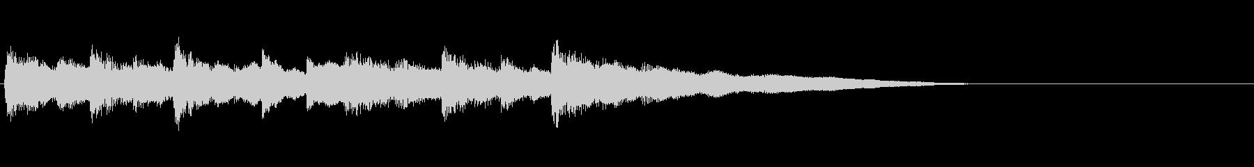 和風ジングル:民謡風しゃみせんの未再生の波形
