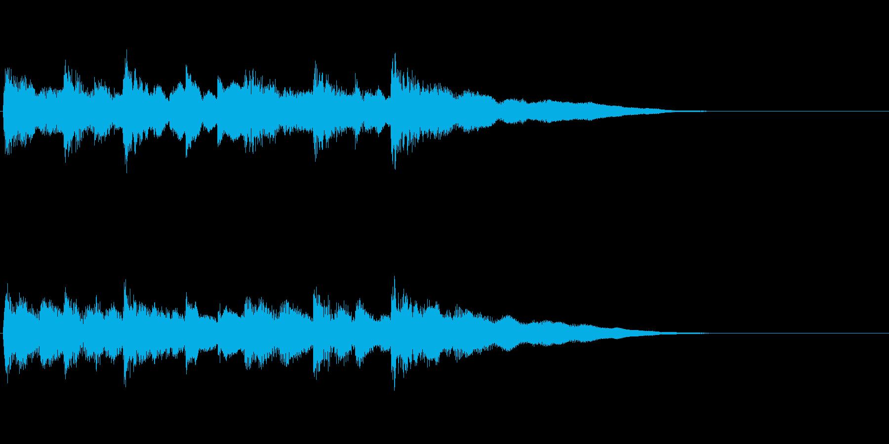 和風ジングル:民謡風しゃみせんの再生済みの波形